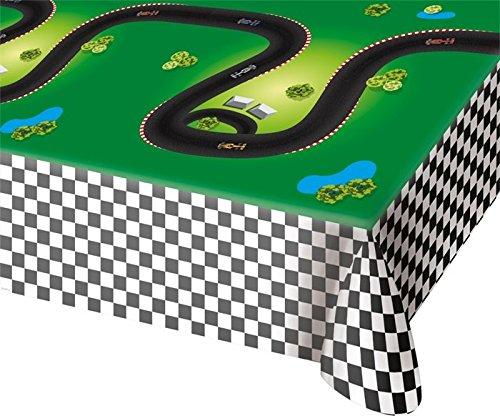 Kunststofftischdecke * FORMULA RENNSTRECKE * für Kindergeburtstag oder Motto-Party // Geburtstagsparty Tablecover Disney Auto Rennen Rennwagen Rennfahrer Formel - Spielzeug-rennstrecke