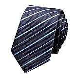 MISSMAO Krawatte Mode Herren Einfarbig Fein Gestreift Verschiedene Farben Büro - Hochzeit - Alltag - Business 1NavyBlueTW OneSize