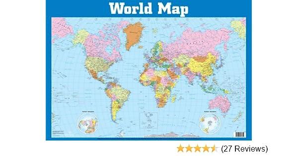 World map wall chart wall charts amazon 9781859972359 books gumiabroncs Image collections