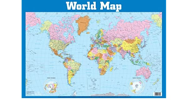 Buy world map wall chart wall charts book online at low prices in buy world map wall chart wall charts book online at low prices in india world map wall chart wall charts reviews ratings amazon gumiabroncs Image collections