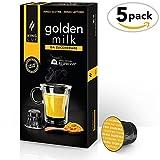 King Cup - Golden Milk sin azúcar - 5 paquete de 50 Cápsulas Compatibles con...