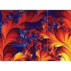 Arte Fractal Trippy Huge. Pieza única en lienzo de fractales. Panel de Cartel. 120x84 cm.