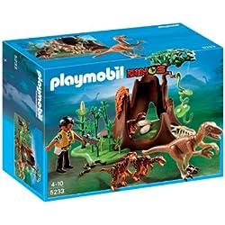 Playmobil Velociraptors con exploradora (5233)