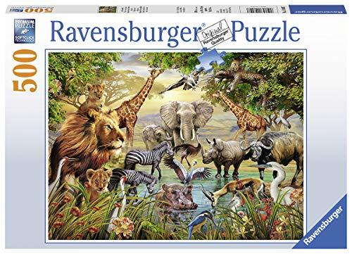 Ravensburger 14809 Contour Puzzle 500 Pieza(s) - Rompecabezas (Contour Puzzle, Animales, Caja, 1 Pieza(s), 500 Pieza(s))