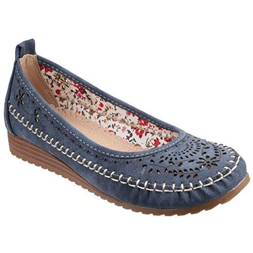 Fleet & Foster Damen Neptune Schuhe mit Keilabsatz und Lochmuster Schwarz