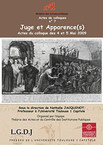 Juges et Apparence(s) (Actes de colloques de l'IFR t. 7) par Collectif