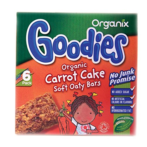 Organix | Carrot Cake Soft Oaty Bars | 6 x 6X30G
