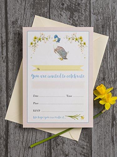 10Stück Beatrix Potter Jemima Puddle-Duck Einladungen