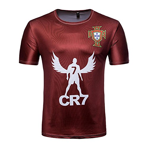 GLOBEAGLE Women Men 2018 FIFA World Cup Russia Soccer Portugal T-Shirts(Wine c70346a96