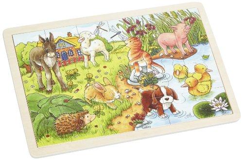 Goki-57890 maderaPuzzles de maderaGOKICachorritos II, Puzzle, (4013594578905)