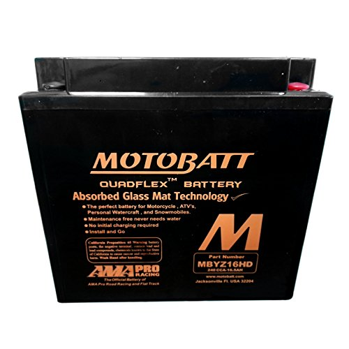 Batteria sigillata precaricata Motobatt MBYZ16HD 12 V 16,5 Ah 240 CCA