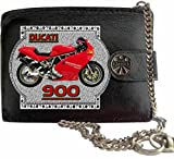 Ducati 900 image on KLASSEK Brand Men Leather Chain Wallet with Chain clasp Motorbike Motorcycle accessory gift with Metal Box NOT OFFICIAL Ducati Merchandise