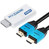 Zacro Wii Hdmi Adapter Wii Hdmi Wii zu HDMI Full HD Konverter Display Port auf Hdmi Adapter 720P 1080P HD Video Audio Ausgang mit 1 M größer Geschwindigkeit HDMI Kabel für Wii Display