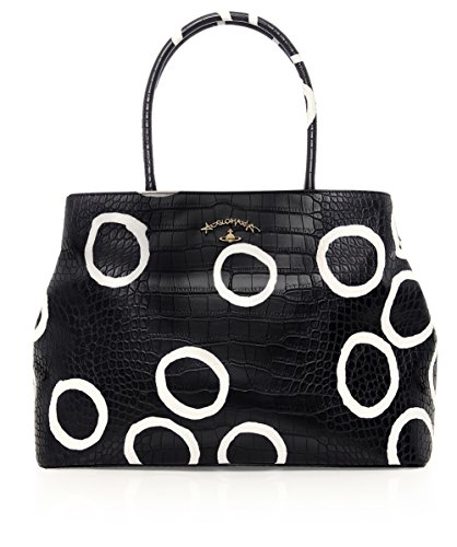 Vivienne Westwood Accessories Da Donna Borsa Shopper Bristol BLACK CIRCLE Unica Taglia