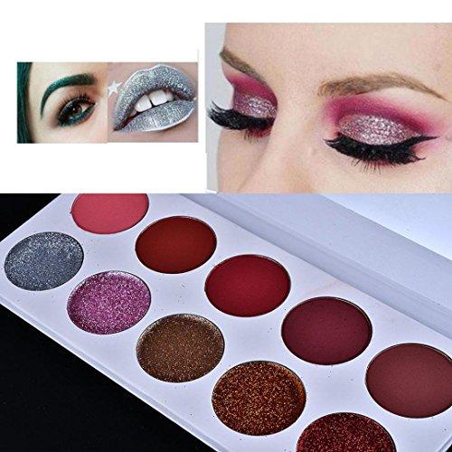 ❤️ Fard à paupières,Luxe Scintillement scintillement paillettes ombre palette farde à paupières maquillage cosmétique palettes by LHWY