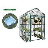 Home Gewächshaus Mini Garden Cover, HimanJie Garten Treibhaus Tomatenhaus Pflanzenhaus Frühbeet Foliengewächshaus Cover ohne Regal (XL, 143*73*195 cm)