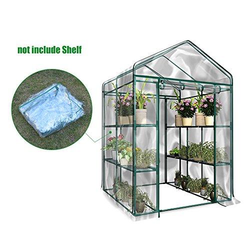Serra in PVC trasparente, copertura calda, tenda da giardino per interni ed esterni, ideale per coltivare semi e fiori (telaio non incluso)