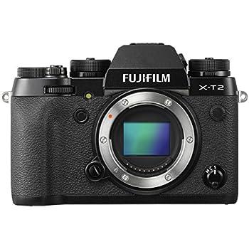 """Fujifilm X-T2 Fotocamera digitale da 24 megapixel, Sensore X-Trans CMOS III APS-C, Mirino EVF 2,36MP, Schermo LCD 3"""" orientabile, Ottiche intercambiabili, Nero"""