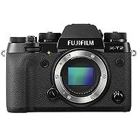 """Fujifilm X-T2 - Cámara sin espejo de óptica intercambiable de 24,3 MP (pantalla LCD de 3"""", APS-C""""X-Trans CMOS III"""", 100-51200, estabilizador tipo OIS, WiFi, video 4K)[Nuevo Firmware 4.0], negro - solo el cuerpo"""