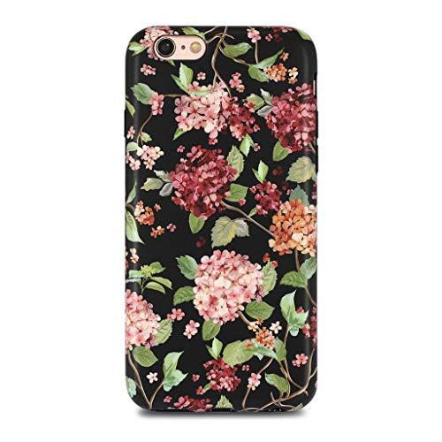 golink iPhone 6/6S Schutzhülle für Mädchen Floral schmalem superdünn kratzfest stoßfest staubdicht Anti-Fingerabdruck-TPU Case für iPhone 6/iPhone 6S (11,9cm Display) -