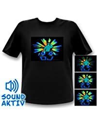 DJ T-shirt LED Equalizer T-Shirt - xxl