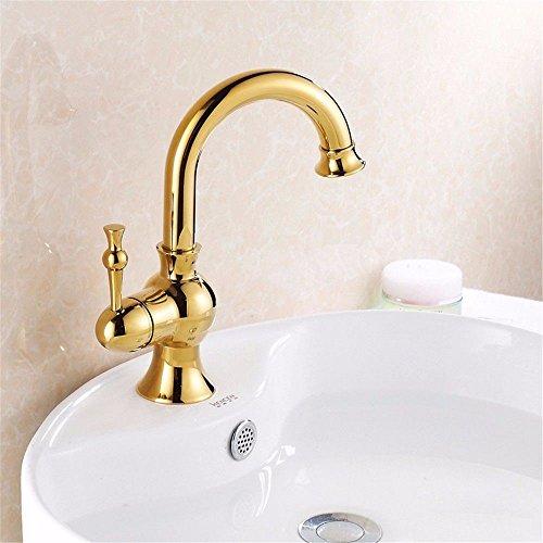 Lalaky rubinetto bagno lavabo bocca girevole per lavabo rubinetto monocomando per lavandino per cucina y bagno l'oggetto d'antiquariato dorato può trasformare il rame a mano singola calda e fredda miscelatore cucina rubinetto alto monocomando cascata con maneggiare per cucina