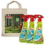 Poliboy Bio Küchen Reinigungsmittel (375 ml), Bio Bad Reiniger (375 ml) und Bio Möbel Reiniger (375 ml) + Tasche