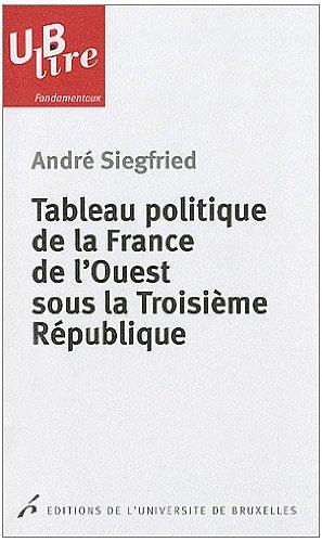 Tableau politique de la France de l'Ouest sous la Troisième République