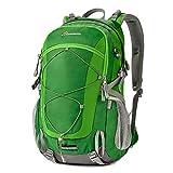 Duhud 40 Liter Wasserdicht Wanderrucksäcke leichtgewicht Rucksäcke Mit Regen Abdeckung (Neu grün)