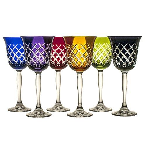 Crystaljulia 9135-Bicchieri Bicchiere per vino rosso, cristallo, 220ml, 9x 9x 20,5cm, 6unità