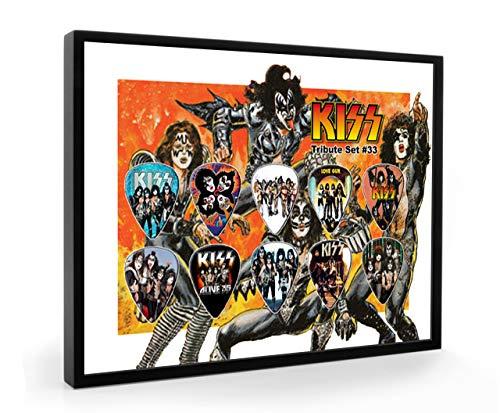 We Love Guitars Kiss Tribute Edition Gitarre Plektrum Framed Gerahmt Display Gitarren Picks