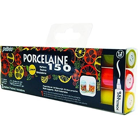 Pébéo porcelana–Funda de 3rotuladores colores citronnées varios