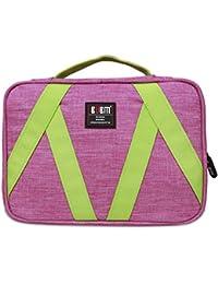 BUBM colgantes Neceser - Kit de viaje Organizador para el maquillaje de las mujeres y los hombres y estética Bolsa, rosa roja y verde claro