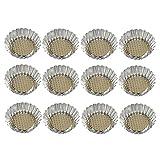 12X Toruiwa Einweg Aluminium Mini Pudding Backform Cupcake Muffins Eierkuchenform Küchengeräte Gebäck