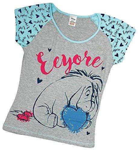 Damen Schlafanzug - T-Shirt & Lange Hose - Superhero - Baumwolle Eeyore Grey Top