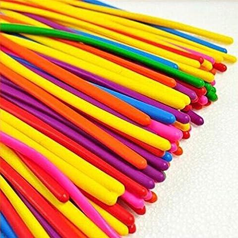 logei® 200 pezzi Palloncini, Palloncini modellabili, Magici Palloncini per feste, compleano, matrimonio, ecc--colore a caso