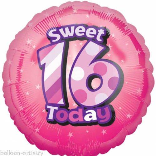 amscan Folienballon Happy Sweet 16. Geburtstag Circle (Sweet 16 Halloween Kostüme)