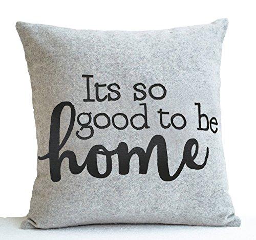 Silbernes Grau Kissenbezug mit seinem so gut zu Hause Stickerei -
