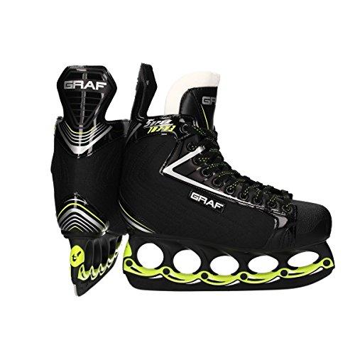 Graf Super G 103 V3 Skate mit T - Blade System Black Edition, Größe:7.5 = 41 1/3, Weite :E = wide