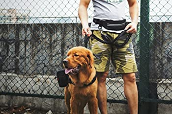 1t Onetigris Jogging Hundeleine Mit Hüftbeutel2handgriffenbungee-leine Reflektierende Nähte ,115 Cm-175 Cm (Schwarz) 3