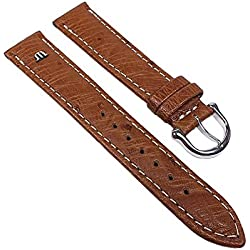 Maurice Lacroix Replacement Band Watch Band Ostrich Leather Strap light brown 22625S, width:20mm