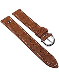 Maurice Lacroix Replacement Band Watch Band Ostrich Leather Strap light brown 22625S, width:15mm