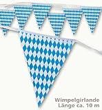 Oktoberfest Wimpel Girlande Bayern 10m -