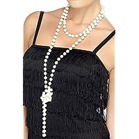 Smiffy's Sautoir de Perles Nacrées Charleston Femme