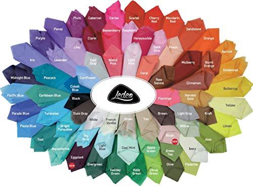 Premium Seidenpapier farbig Silk Tissue - 10 Blatt (50 x 75 cm) - Farbe auswählbar (Blush)