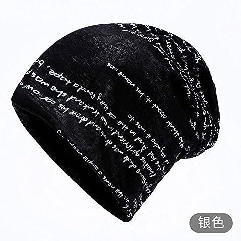 """Dngy*Autunno cappuccio bambini marea Baotou Elegante cappello outdoor leisure turbante cap palo kit tappo cappuccio di testa ragazza"""") , argento"""
