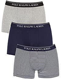 Polo Ralph Lauren Homme 3 Pack de coton stretch Logo Trunks, Gris
