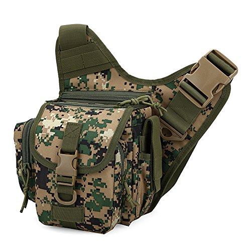 Zll/Esplosioni esterno tattico borsa Messenger piccola borsa da uomo Borsa a tracolla per fotocamera impermeabile in nylon Camo, three color Giungla