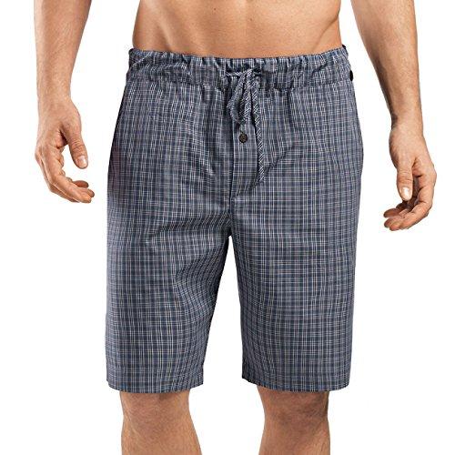 Hanro Herren Shorts Night & Day Hose Kurz Mehrfarbig (Grey Check 1045)