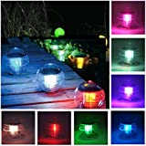Coquimbo 7 Color Changing Solar Floating Pond Pool Light Waterproof ABS Plastic Hanging Ball Light for Garden (1 Pcs)